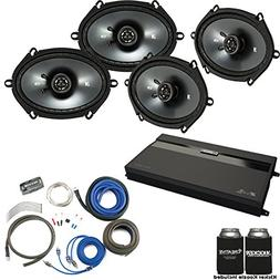 Kicker - Two Pairs Of 43CSC684 6x8 Speakers, a MB Quart ZA2-