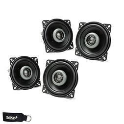 MB Quart - Two Pairs of Formula 3.5 Inch 2-Way Coaxial Car S
