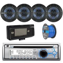 """Marine Bluetooth Receiver, w/ 6.5"""" Marine Outdoor Speaker ,"""