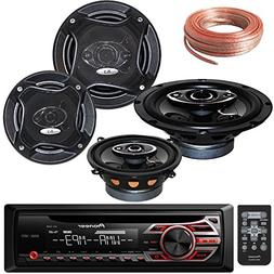 Package Bundle - Pioneer DEH-150MP Single DIN MP3 Car Stereo