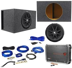 "Package: KICKER 43C154 Comp 15"" 600 Watt Car Subwoofer With"
