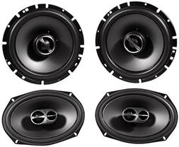 "Package: Pair of Alpine SPS-619 6"" x 9"" 3 Way Coaxial Car Sp"