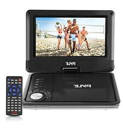 Pyle 9-Inch Portable DVD and CD Player - Built-in Rechargeab