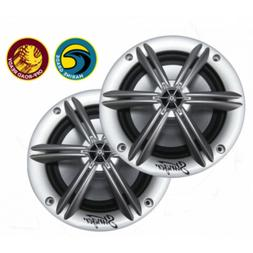"""Stinger PowerSports 6.5"""" Marine Coaxial Speakers Silver"""