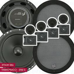 "Infinity Alpha 650C 6.5"" 2-Way MAX 630 Watts Car Audio Compo"
