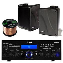 Amp And Speaker Combo Packge: Pyle PDA6BU Bluetooth Radio US