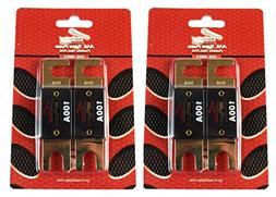 100 Amp ANL Fuses Gold Plated AudioPipe Blister 4 Pack Fuses
