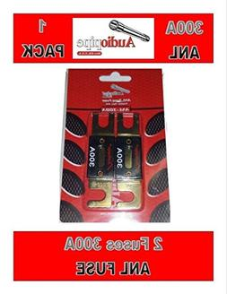 Audiopipe 300 Amp ANL Fuses Gold Plated Blister Pack 2 Fuses