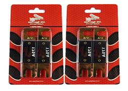 Audiopipe 175 Amp ANL Fuses Gold Plated Blister Pack 4 Fuses