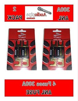 Audiopipe 300 Amp ANL Fuses Gold Plated Blister Pack 4 Fuses