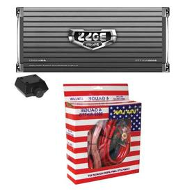 Boss AR4000D 4000W Mono D Car Audio Amplifier w/Remote + 4 G