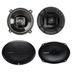 "Polk Audio 5.25"" 300W Car/Marine ATV Speakers, Pair + 6x9"" 1"