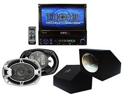 Absolute USA AVH4000PKG 7 Inch In Dash TFT LCD Monitor DVD R