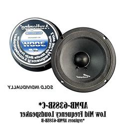 "Audiopipe 6"" 6.5"" Sealed Back Full Range Mid Loudspeaker Car"