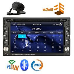 Free Backup Camera Included + Latest Double 2 Din Car Stereo