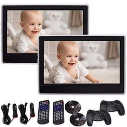 EinCar 11.6 Inch Black Car Headrest Monitors with DVD Player