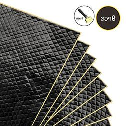 Partsam Black 80 mil 36 sqft Car Sound Deadening Mat,Self-Ad