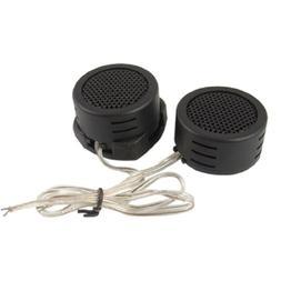 SODIAL 2 Pcs Black Plastic Dome Car Auto Tweeter Speakers