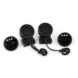 uxcell Black Shell Car Audio System 300W 102dB Dome Tweeters
