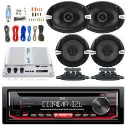"Bluetooth Amplifier Set,2x 6x9"" and 4x 6.5"" JVC Car Speakers"