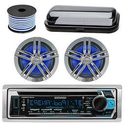 Kenwood Bluetooth CD Radio Receiver KMR-D365BT In-Dash Marin
