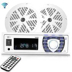 """Bluetooth Marine Receiver Stereo Kit  5.25"""" Waterproof Spe"""