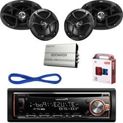 "Bluetooth USB CD Car Radio,6.5"" &6x9"" JVC Speakers/Wires,Amp"