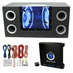 "Pyramid BNPS122 12""1200W Car Bandpass Subwoofers + Box + 150"