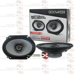 BRAND NEW KENWOOD 6x8-INCH 2-WAY CAR AUDIO COAX SPEAKERS PAI