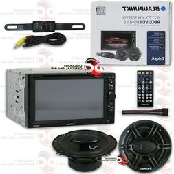 "BLAUPUNKT CAR 2DIN 6.2"" DVD USB BLUETOOTH STEREO + 6.5"" SPEA"