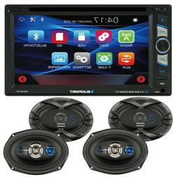 """BLAUPUNKT CAR AUDIO 2-DIN 6.2"""" DVD BLUETOOTH RADIO + 4x COAX"""