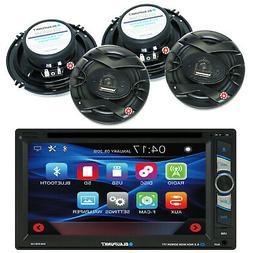 "BLAUPUNKT CAR AUDIO  2DIN 6.2"" DVD BLUETOOTH RADIO W/    4x"