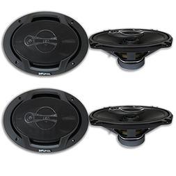 """4 x Alpine 6x9-inch 3 way Car Audio Coaxial Speakers 6x9"""""""