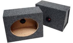 "Car Audio Custom 6"" X 9"" Sealed Speaker Wedge Gray Carpet En"