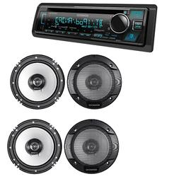 KENWOOD Car Audio Package Deal::1 Unit) KDC-BT362U + 2 Pairs