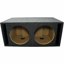 Car Audio Dual 12 Inch Slot Vented Subwoofer Labyrinth SPL B