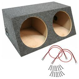 Car Audio Dual 15 Inch Sealed Stereo Sub Box Subwoofer Bass