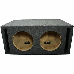Car Audio Dual 8-Inch Slot Ported Subwoofer Labyrinth SPL Ba