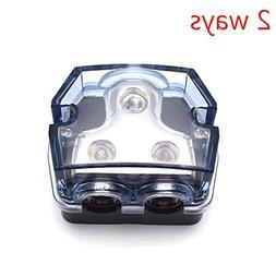 Sydien Car Audio Power Distributor Block 2 Ways Outputs Fuse