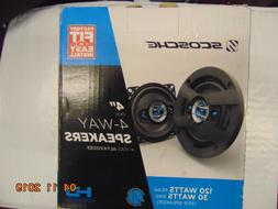"Scosche Car Audio Speaker Set Stereo Pair 4"" HD Series 4 Way"
