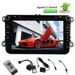 "Car Audio Stereo Radio for Volkswagen/SEAT/SKODA 8"" HD Andro"