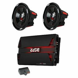 "Boss 12"" 2300W Car Audio Subwoofer + PD5000 5000W Mono D Amp"