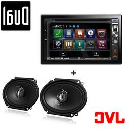 Car audio System Double Din, Touchscreen, Bluetooth, DVD/CD/