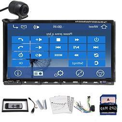 Car Autoradio 2 DIN Car DVD Player Car Stereo Head Unit Blue