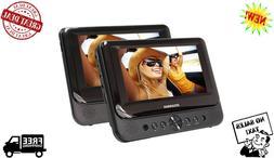 "Car DVD Player Dual Screen Portable USB 7"" LCD Monitors Cert"