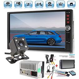 """Car Rear View Camera + Cavogin 7"""" inch Double Din Touchscree"""