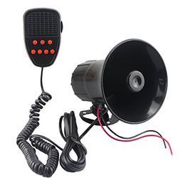 GAMPRO Car Siren Speaker, 12v 50w 7 Tones Sound Electronic C