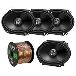 "Car Speaker Package Of 4x  JVC CS-DR6820 300-Watt 6x8"" Inch"