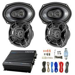 "Car Speaker And Amp Combo: 4x Kicker 43CSC6934 900-Watt 6"" x"