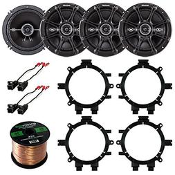 "Car Speaker Bundle Combo: 2 Pairs of Kicker 43DSC6504 6.5"" I"